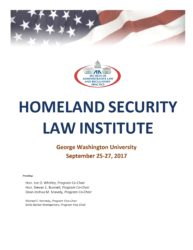 Homeland Security Law Institute by the American Bar Association
